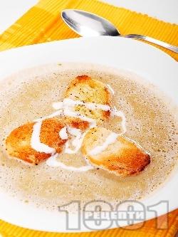 Крем супа от зелена леща с прясно мляко и червено вино - снимка на рецептата